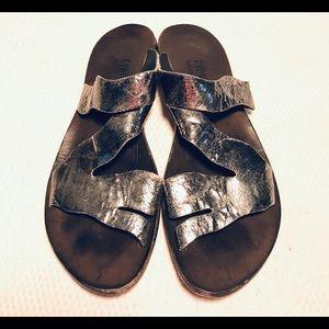 CYDWOQ metallic sandals